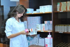 Central dispensary's pharmacy.