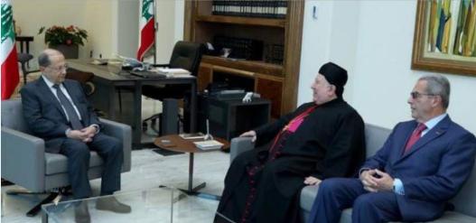 مطر والخازن سلما الرئيس عون الدعوة لحضور قداس عيد مار مارون في 9 شباط