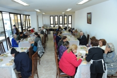 6 - Friendly lunch with elderly people in the renovated premices.