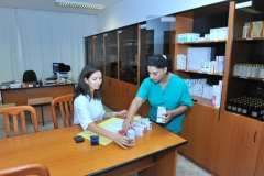 Central dispensary's pharmacy.