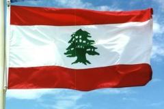 Lebanese flag.